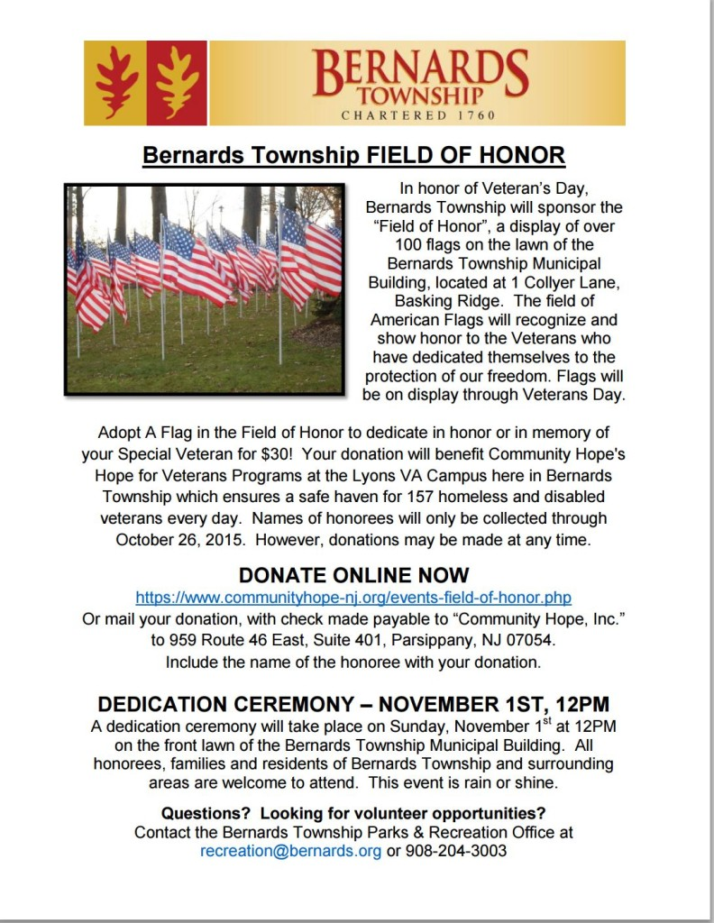 Bernards Township Field of Honor