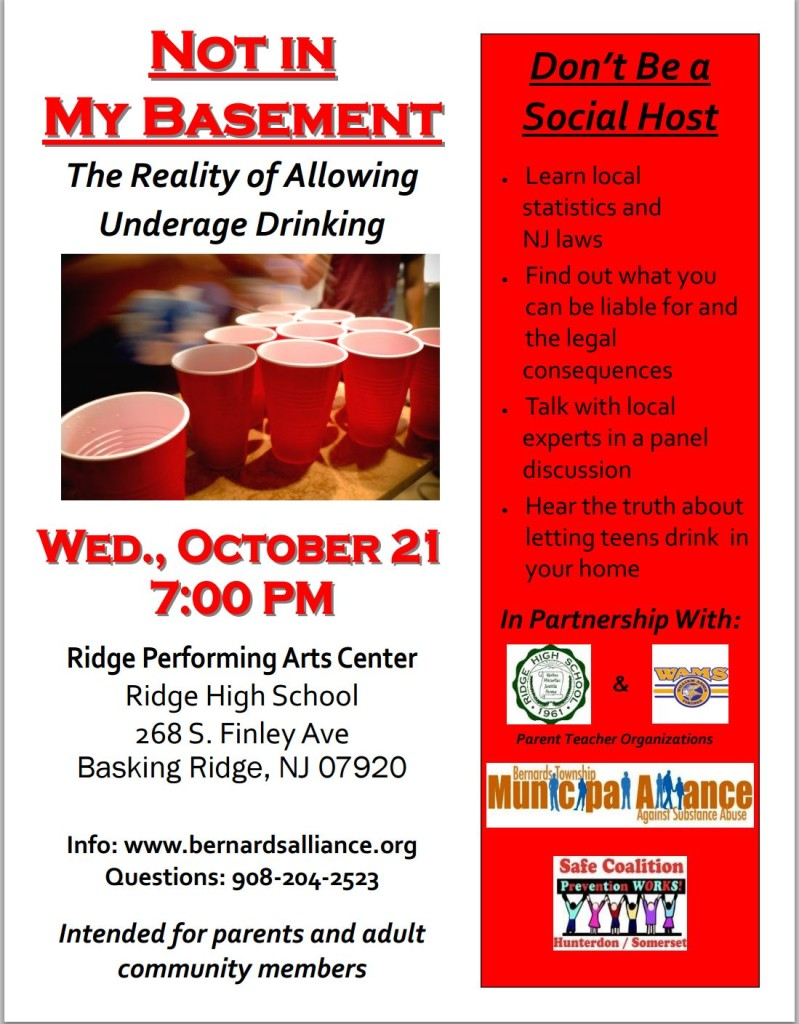 Not In My Basement – Wed. 10/21 – Ridge PAC