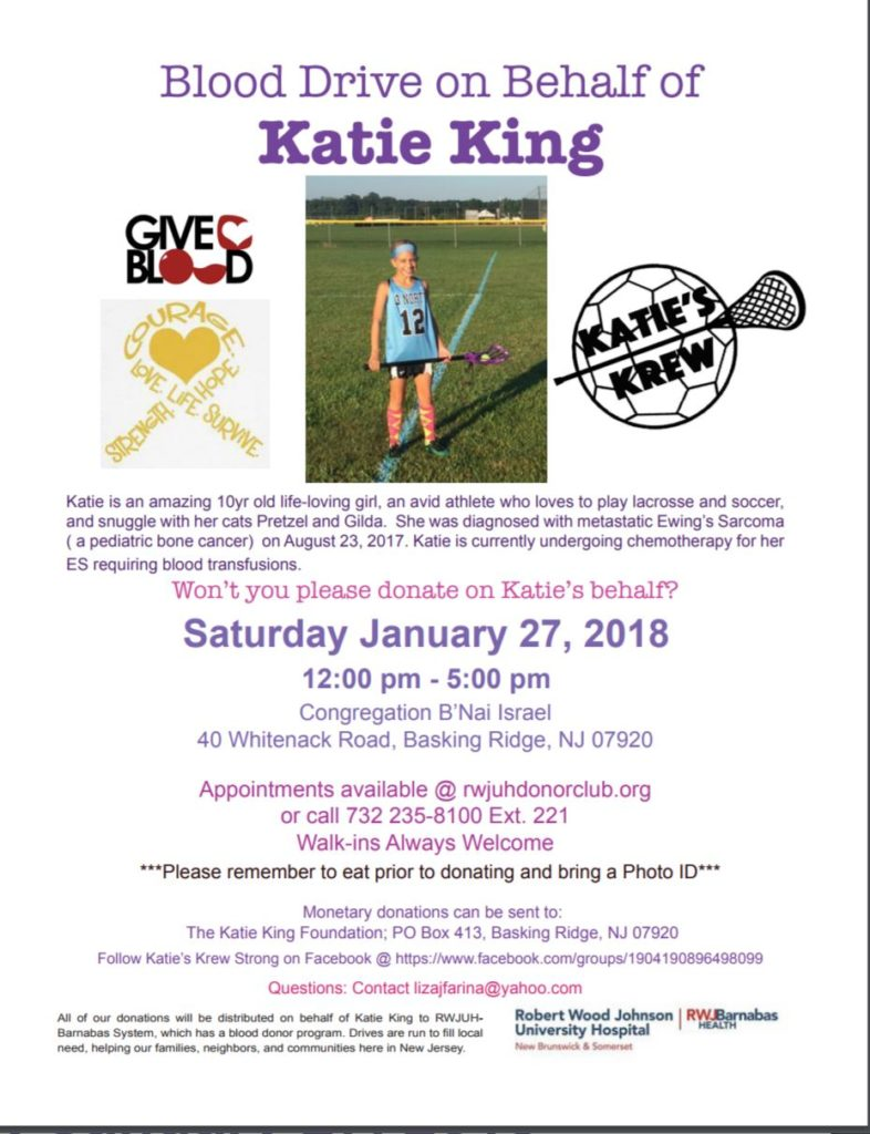 Blood Drive on Behalf of Katie King