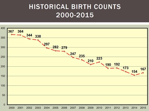 Basking Ridge - Birth counts